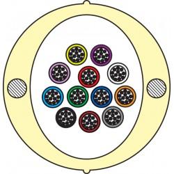 Kabel Łatwego Dostępu KLD-TK 72J [budowa modułowa: 6 tub x 12 włókien] - dowolna długość