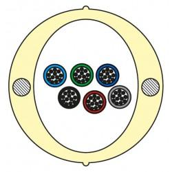 Kabel Łatwego Dostępu KLD-TK 72J Acome PAD1826, HPC1626 [budowa modułowa: 6 tuby x 12 włókien] - 2 000 m opakowanie bęben