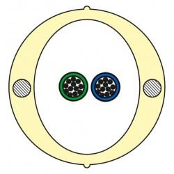 Kabel Łatwego Dostępu KLD-TK 24J Acome PAD1826, HPC1626 [budowa modułowa: 2 tuby x 12 włókien] - 2 000 m opakowanie bęben
