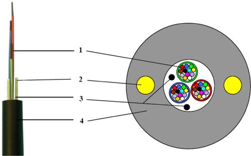 Przykład dystrybucyjnego kabla napowietrznego UNC 1634