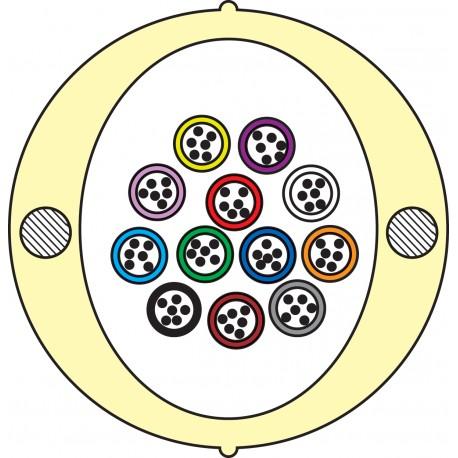 Kabel Łatwego Dostępu KLD-TK 72J Acome PAD1826, HPC1626 [budowa modułowa: 12 tuby x 6 włókien] - 2 000 m opakowanie bęben