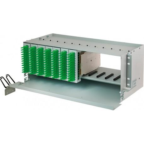Modułowa Przełącznica Światłowodowa PSM-19/144/4U (widok z modułami)