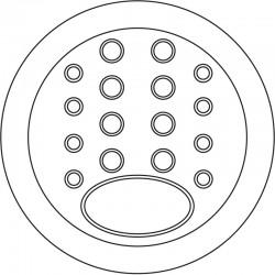 Mufa MUF-6/288 - konfiguracja przepustów