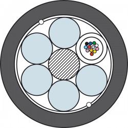 Światłowodowy Kabel Kanalizacyjny Prysmian TDS4016 1 x 12J