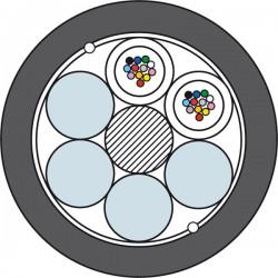 Światłowodowy Kabel Kanalizacyjny Prysmian TDS4016 2 x 12J