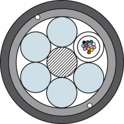 Światłowodowy Kabel Kanalizacyjny ze Wzmocnieniem Prysmian TDS4017 1 x 12J