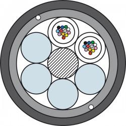 Światłowodowy Kabel Kanalizacyjny ze Wzmocnieniem Prysmian TDS4017 2 x 12J